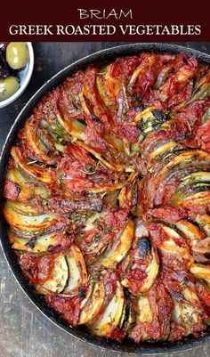 If you havent tried these Greek Roasted Vegetables you are in for a treat DELICIOUS healthy and loads of Greek flavors You probably already have all the ingredients Easy. Side Dish Recipes, Veggie Recipes, Vegetarian Recipes, Cooking Recipes, Healthy Recipes, Vegetarian Greek Recipes, Dinner Recipes, Easy Recipes, Roasted Vegetable Recipes