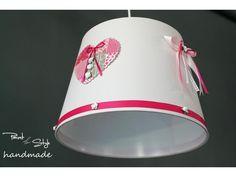 Φωτιστικό οροφής για κορίτσια Τιμή 37€ | paint4style-shop.gr Shades, Lighting, Pink, Handmade, Home Decor, Hand Made, Decoration Home, Room Decor, Lights