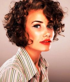 Image result for Short Curly Hairstyles for Fuller Faces
