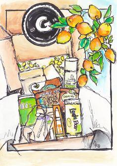 GoodnessMe Boxes September 2014 Box Artwork!! #art #healthy #lifestyle