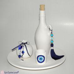 Ελληνικά χειροποίητα σουβενίρ στα χρώματα της θάλασσας. Greek ceramic souvenir handmade. Toothbrush Holder, Souvenir