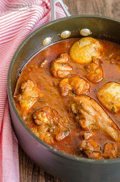 Doro Wat ~ Ethiopian Chicken Stew #FoodOfTheWorld - MySpicyKitchen Stew Chicken Recipe, Chicken Recipes, Chicken Curry, Ethiopian Cuisine, Ethiopian Recipes, Ethiopian Chicken Recipe, Cooker Recipes, Soup Recipes, Kitchen