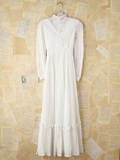 Vintage White Lace Gunne Sax Dress, from freepeople