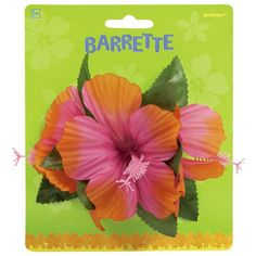 Amscan Summer Luau Hibiscus Barrette Pink | Spotlight Australia