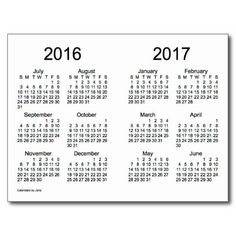 2016 2017 Calendar
