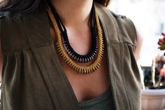 Lovely diy neckl a ce....fin d full instructions here !