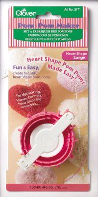 Heart-shape Pom-Pom Maker by Clover Takumi® size Large
