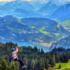 Instagram's ahubozkurt1 flies high above Lucerne, Switzerland.