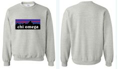 Chi Omega Crewneck sweatshirt Size MEDIUM by karfletch on Etsy, $29.95