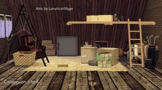 Sims 4 CC's - The Best: Attic Collection  (Conversion 3 to 4) by Lunaticav...