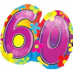 XL Folieballon 60ste Verjaardag