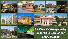 Know about best 10 resorts in Jaipur for birthday party. Throw a bash at these party resorts in Jaipur which have finest halls and restaurants to party in style.