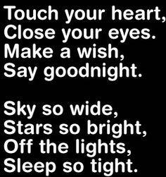 Beautiful way to say goodnight :)