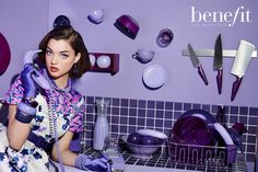 Benefit Cosmetics Advertising Campaign- They're Real Mascara Eyeliner | NEW YORK FASHION BEAUTY PHOTOGRAPHER- EDITORIAL COMMERCIAL ADVERTISING PHOTOGRAPHY
