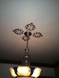 Beautiful & easy ceiling medallion! Four UL Ornamentals.