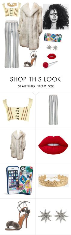 """""""90´S"""" by mykingky ❤ liked on Polyvore featuring Jean-Paul Gaultier, See by Chloé, Lime Crime, Vera Bradley, Aquazzura, Bee Goddess and Fred"""
