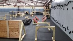 The Loft Indoor Obstacle Course Field Trip is Booked! - Get Fit NH Concord Gym Personal Training Trampolines, American Ninja Warrior Obstacles, Parkour Gym, Ninja Warrior Course, Ninja Training, Dog Training, Backyard Obstacle Course, Gym Facilities, Outdoor Gym