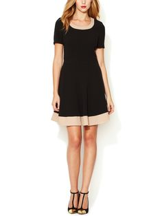 Crepe Fit and Flare Dress from Ultra-Flattering Illusion Dresses on Gilt