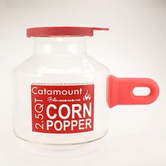 This awesome - as soon as my air popper nites it I need to buy this!  Glass Microwave Popcorn Popper, 2.5 quarts
