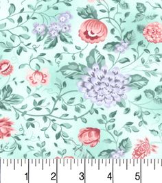 Two Daughters™ Cotton Fabric-Pastel Floral Mainnull