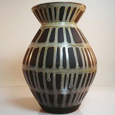 West German Pottery Vase • Carstens • mid 20th century
