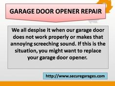 Secure for Sure provides best Garage Door Spring, Cable & opener repair Services in Pennsylvania, Delaware and New Jersey. We assure quality services of garage door replacement, maintenance and installation. Overhead Garage Door, Garage Doors, Garage Door Opener Repair, Garage Door Springs, New Jersey