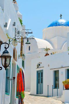 Colourful chora on Sifnos island, Greece