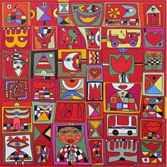 Living In Europe by Wlad Safronow. Pigments On Canvas (Series Pop Art).