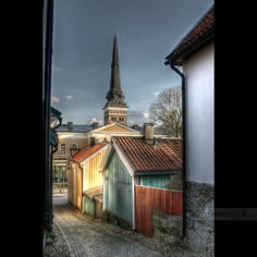 Gamla kvarteren. Västerås. Sweden