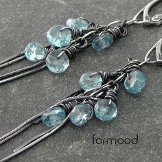 apatyt  sky blue - kolczyki z kolekcji 'DEGREE' Biżuteria Kolczyki formood