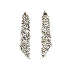 Lorraine Schwartz Rose Cut Mesh Chandelier Earrings - Earrings -... (71 740 PLN) ❤ liked on Polyvore featuring jewelry, earrings, lorraine schwartz, mesh earrings, chandelier jewelry, earring jewelry and mesh jewelry