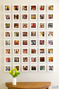 """Group all your art and photographs into a """"gallery wall"""" display.   23 Simple Ways To Make Your Space Way More Chill"""