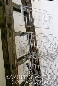 Great idea for craft room or office storage - use the ladder from the old kitchen.Heck...just find me the ladder!