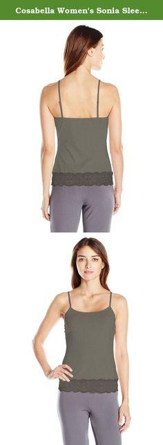 Cosabella Women's Sonia Sleepwear Camisole, Smoky Gray, Medium. Scoop neck pullover camisole adjustable shoulder straps.