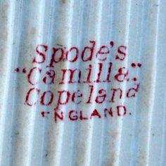 Spode's Camilla Copeland England China mark circa 1850-1869