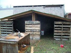 Providence Homestead: Goats and a Pallet Goat Shed