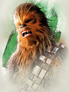 Star Wars The Last Jedi New Promo Character Art -Chewbacca Star Wars Fan Art, Star Wars Holonet, Star Wars Gifts, Chewbacca, Star Wars Characters, Star Wars Episodes, Star Wars Zeichnungen, Images Star Wars, Starwars