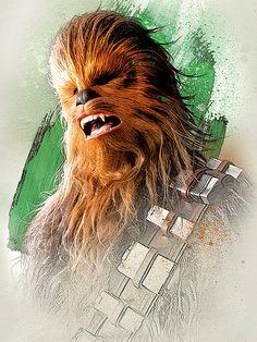 Star Wars The Last Jedi New Promo Character Art -Chewbacca Star Wars Fan Art, Star Wars Holonet, Star Wars Facts, Tatoo Star, Star Wars Tattoo, Star Wars Characters, Star Wars Episodes, Starwars, Star Wars Personajes