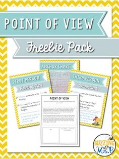 Point of View Freebie Pack: Simple materials to teach the different forms of point of view!**JUST REVISED!**This pack includes...- Sample point of view anchor chart- 4 different point of view posters: First Person, Third Person, Third  Person Limited, Third Person Omniscient- 3 handouts: one story written in three different ways.