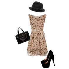 Autumn Swallow, created by cassjane on Polyvore- Ooh La La La. Everything but the hat.