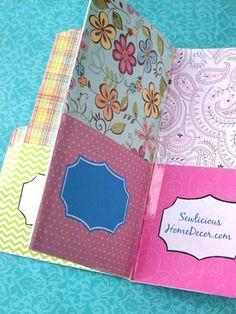 Paper Pocket Folder Pockets Easy Pocket Folder Organizer Tutorial + Giveaway