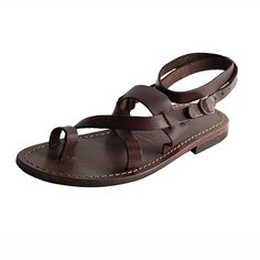 Sandalo hippie marrone da donna