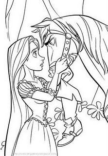 Tangled Coloring Pages