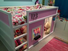 Ikea hack loft bed with a custom made play house