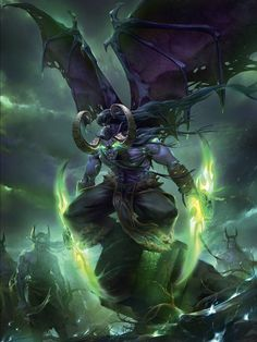Illidan Here is one of my illustrations for Blizzards World of Warcraft Chronicle Illidan Stormrage and his army in the Netherstorm. More art updates and other images on my site,. Art Warcraft, Warcraft Funny, World Of Warcraft Game, World Of Warcraft Characters, Warcraft Heroes, Warcraft Legion, Dark Fantasy Art, Fantasy Artwork, Fantasy World