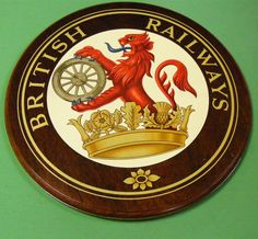 Chasewater Railway Museum Photo of BR Coat of Arms from the Chasewater Railway Museum Collection lions and wheels (British Railways' lion emblems, 1949-1964).