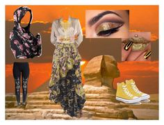 """modern sphinx"" by gothloli9 ❤ liked on Polyvore featuring Philosophy di Lorenzo Serafini, Yves Saint Laurent, WithChic, Converse, Kevin Jewelers, BERRICLE, Balmain and modern"