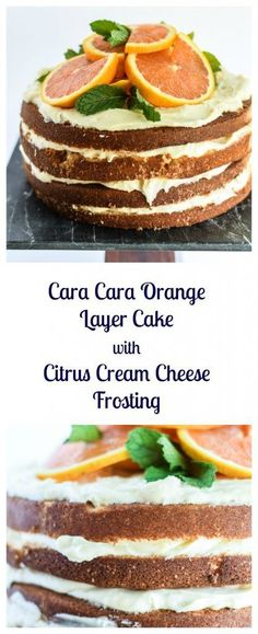Cara Cara Orange Layer Cake with Citrus Cream Cheese Frosting is so good! You need this for any special party!   Beer Girl Cooks
