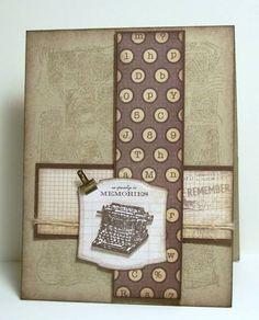 good card for men, could make vertical strip tie shaped.