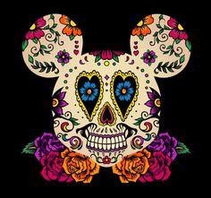 Mickey Sugar Skull - Dia de los Muerto
